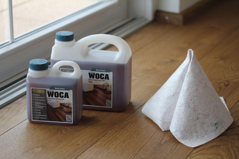WOCA Pflegeöl zur Behandlung ihres Holzbodens